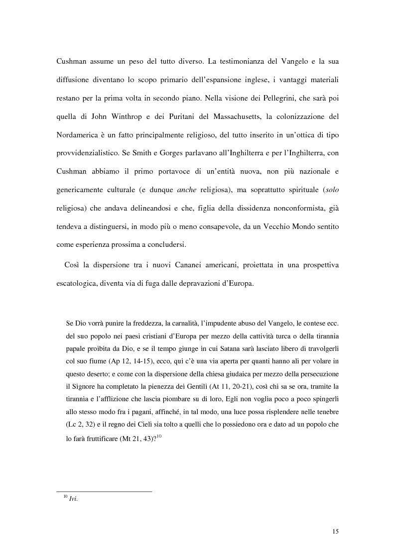 Anteprima della tesi: L'interpretazione dell'«altro» nei Puritani del Nuovo Mondo. Coloni e missionari di fronte al «selvaggio», 1620-1758., Pagina 11