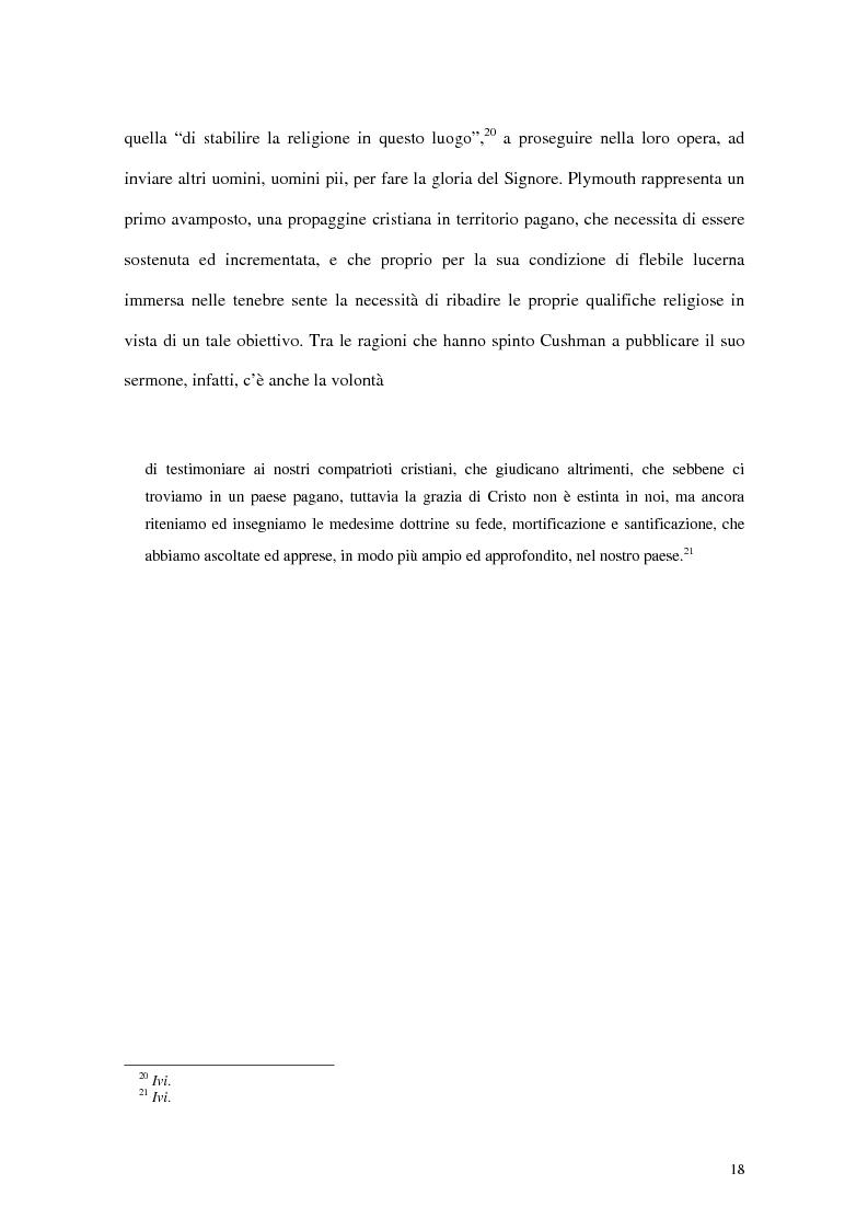Anteprima della tesi: L'interpretazione dell'«altro» nei Puritani del Nuovo Mondo. Coloni e missionari di fronte al «selvaggio», 1620-1758., Pagina 14