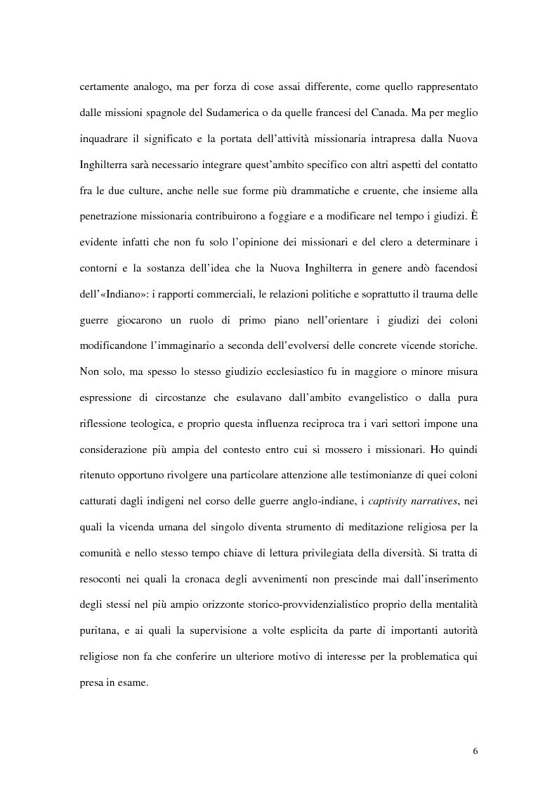 Anteprima della tesi: L'interpretazione dell'«altro» nei Puritani del Nuovo Mondo. Coloni e missionari di fronte al «selvaggio», 1620-1758., Pagina 2