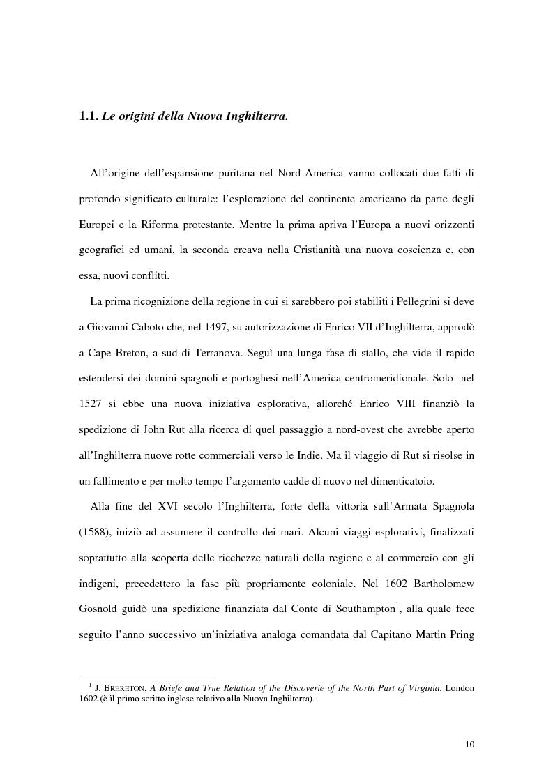 Anteprima della tesi: L'interpretazione dell'«altro» nei Puritani del Nuovo Mondo. Coloni e missionari di fronte al «selvaggio», 1620-1758., Pagina 6