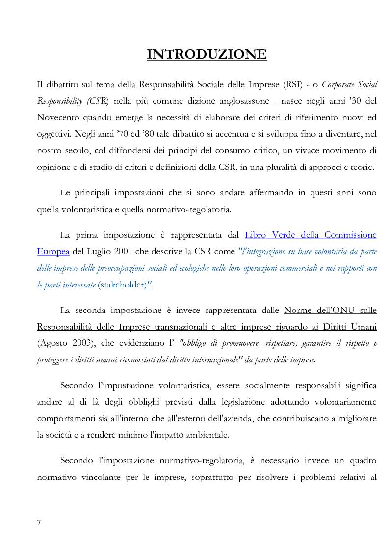 Anteprima della tesi: La irresponsabilità sociale di impresa, Pagina 3