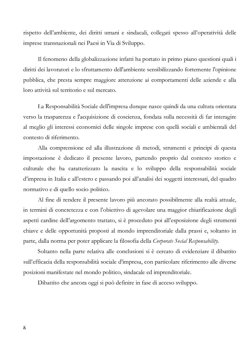 Anteprima della tesi: La irresponsabilità sociale di impresa, Pagina 4