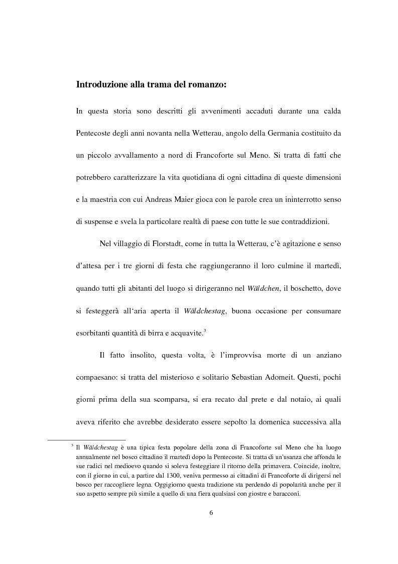 Anteprima della tesi: Il Wäldchestag di Andreas Maier, Pagina 4