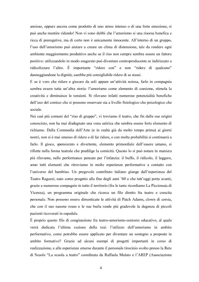 Anteprima della tesi: ''Risus abundant in ore... sapientium''. L'efficacia dell'umorismo dalla performance al contesto educativo., Pagina 3