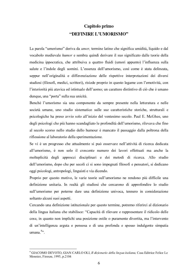Anteprima della tesi: ''Risus abundant in ore... sapientium''. L'efficacia dell'umorismo dalla performance al contesto educativo., Pagina 5