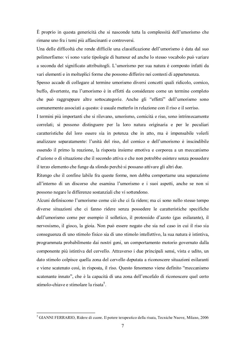 Anteprima della tesi: ''Risus abundant in ore... sapientium''. L'efficacia dell'umorismo dalla performance al contesto educativo., Pagina 6