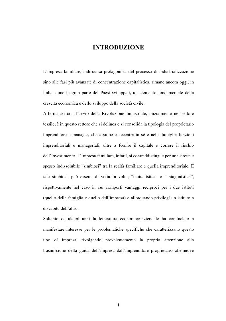 Anteprima della tesi: L'impresa familiare nel settore armatoriale: processi di successione e corporate governance, Pagina 1