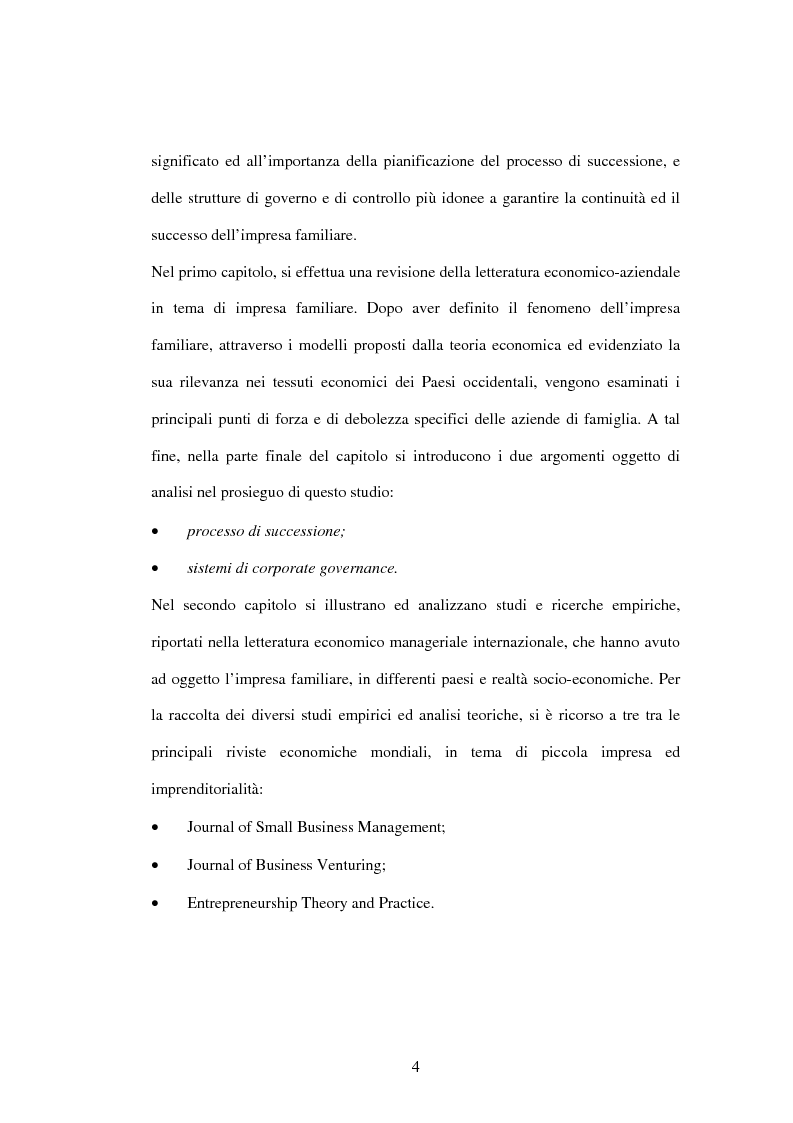 Anteprima della tesi: L'impresa familiare nel settore armatoriale: processi di successione e corporate governance, Pagina 4