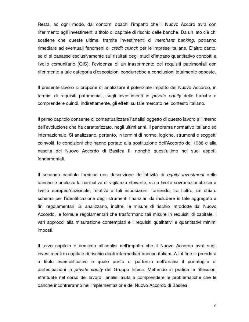 Anteprima della tesi: L'impatto di Basilea 2 sul private equity, Pagina 2