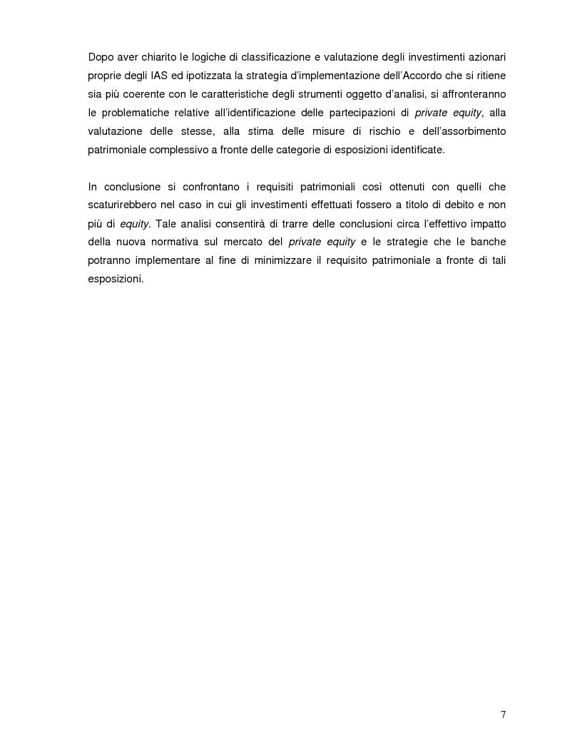 Anteprima della tesi: L'impatto di Basilea 2 sul private equity, Pagina 3