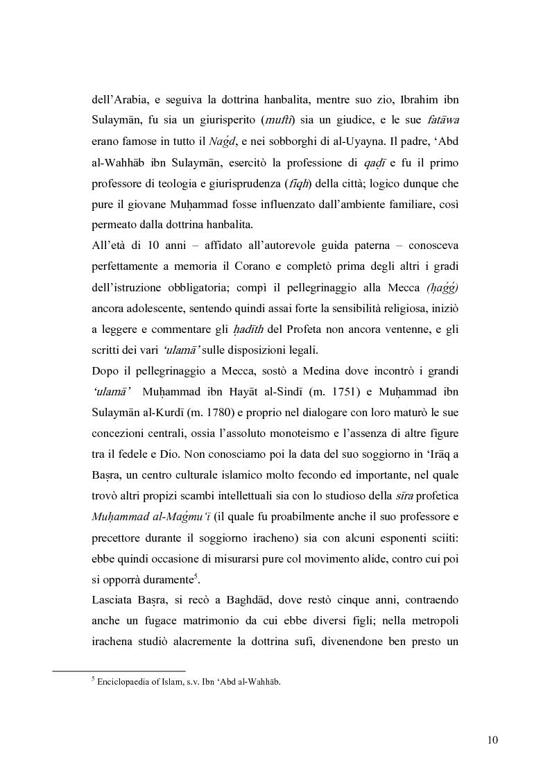 Anteprima della tesi: Il movimento wahhabita, Pagina 10