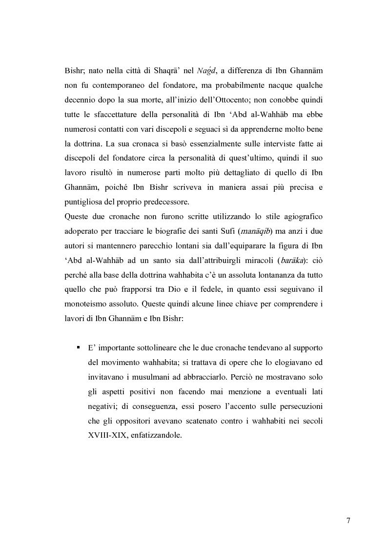 Anteprima della tesi: Il movimento wahhabita, Pagina 7