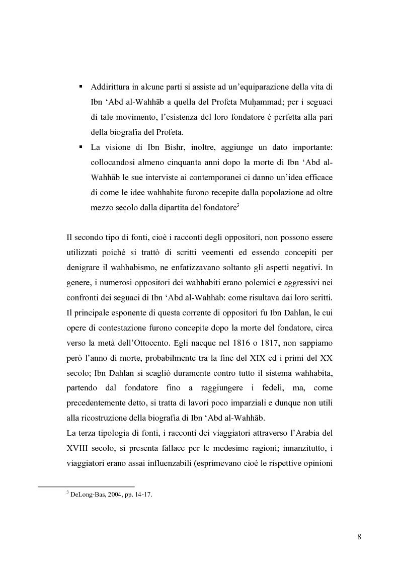 Anteprima della tesi: Il movimento wahhabita, Pagina 8