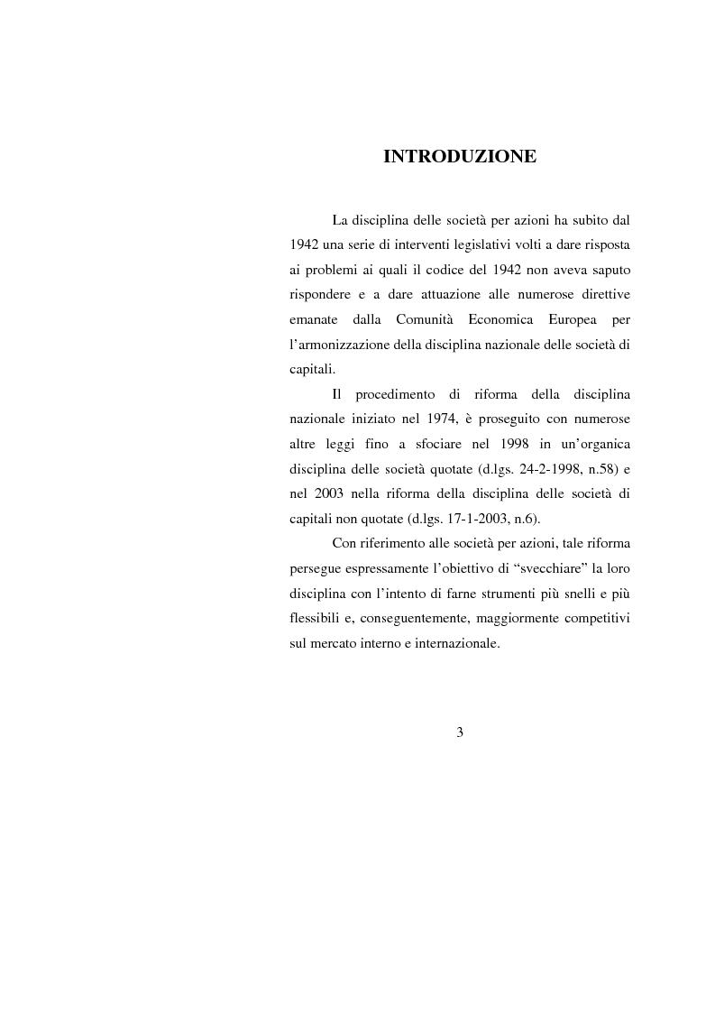 Anteprima della tesi: Potenzialità e criticità dei sistemi di corporate governance dopo la riforma societaria, Pagina 1