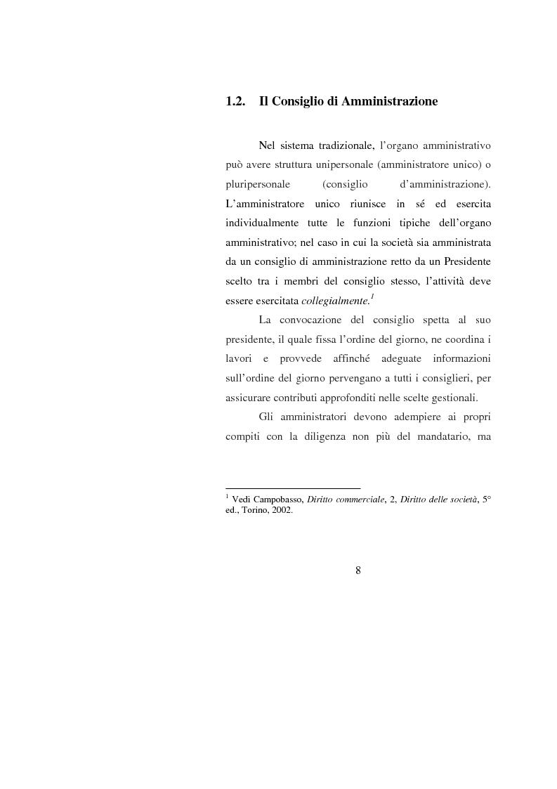 Anteprima della tesi: Potenzialità e criticità dei sistemi di corporate governance dopo la riforma societaria, Pagina 6