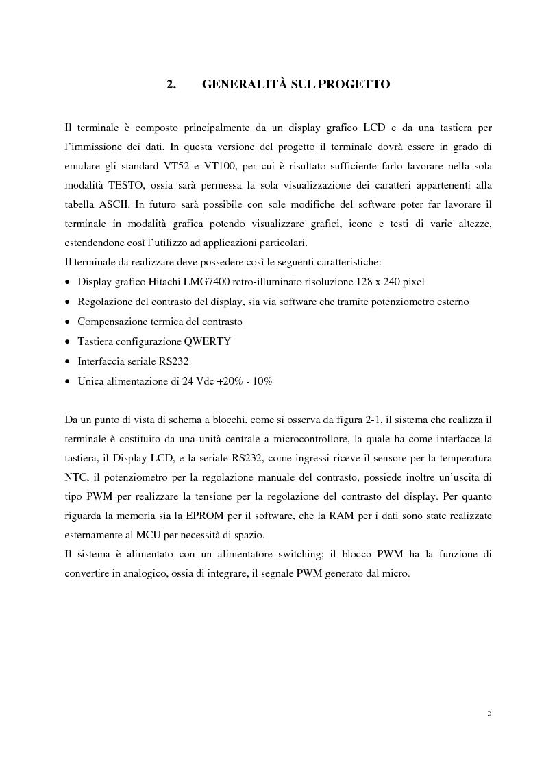 Anteprima della tesi: Progettazione hardware e software di un terminale industriale standard VT100 - VT52 con display LCD, Pagina 2