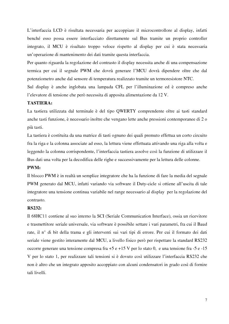 Anteprima della tesi: Progettazione hardware e software di un terminale industriale standard VT100 - VT52 con display LCD, Pagina 4