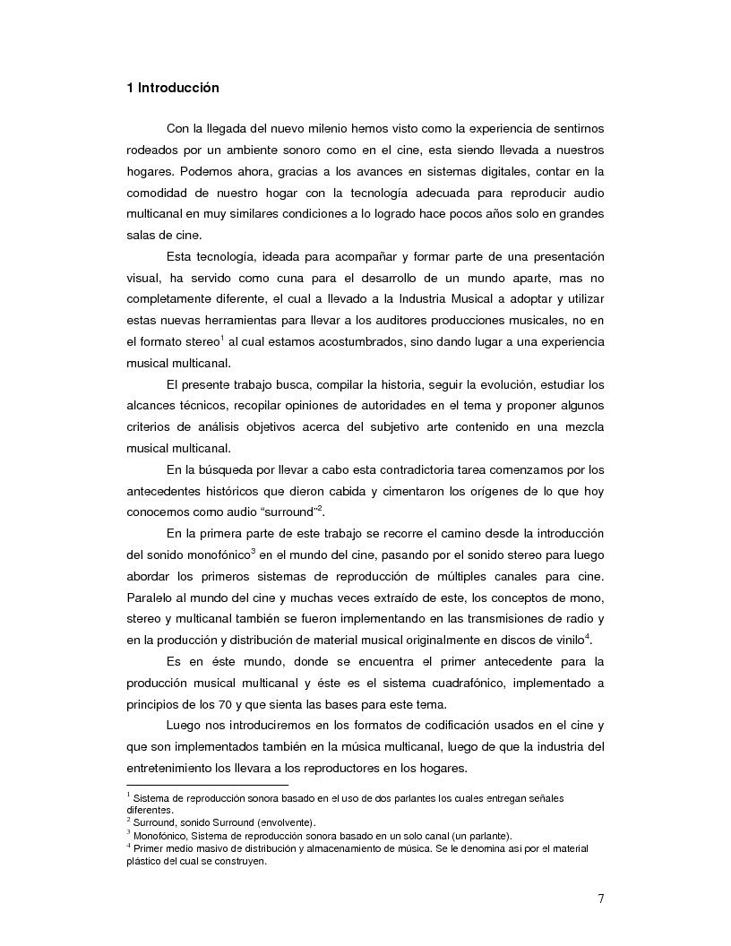 Anteprima della tesi: Producción Musical Multicanal; Un Enfoque Practico, Pagina 2