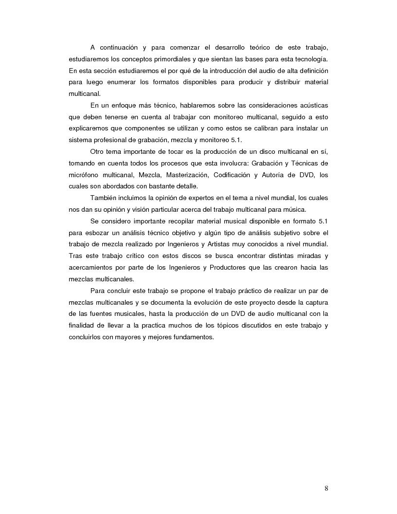 Anteprima della tesi: Producción Musical Multicanal; Un Enfoque Practico, Pagina 3