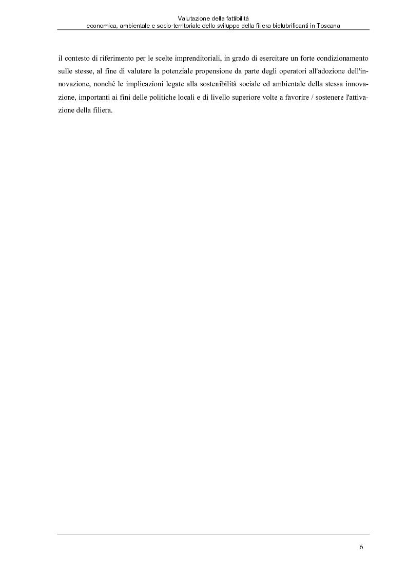 Anteprima della tesi: Valutazione della fattibilità economica, ambientale e socio-territoriale dello sviluppo della filiera biolubrificanti in Toscana, Pagina 2