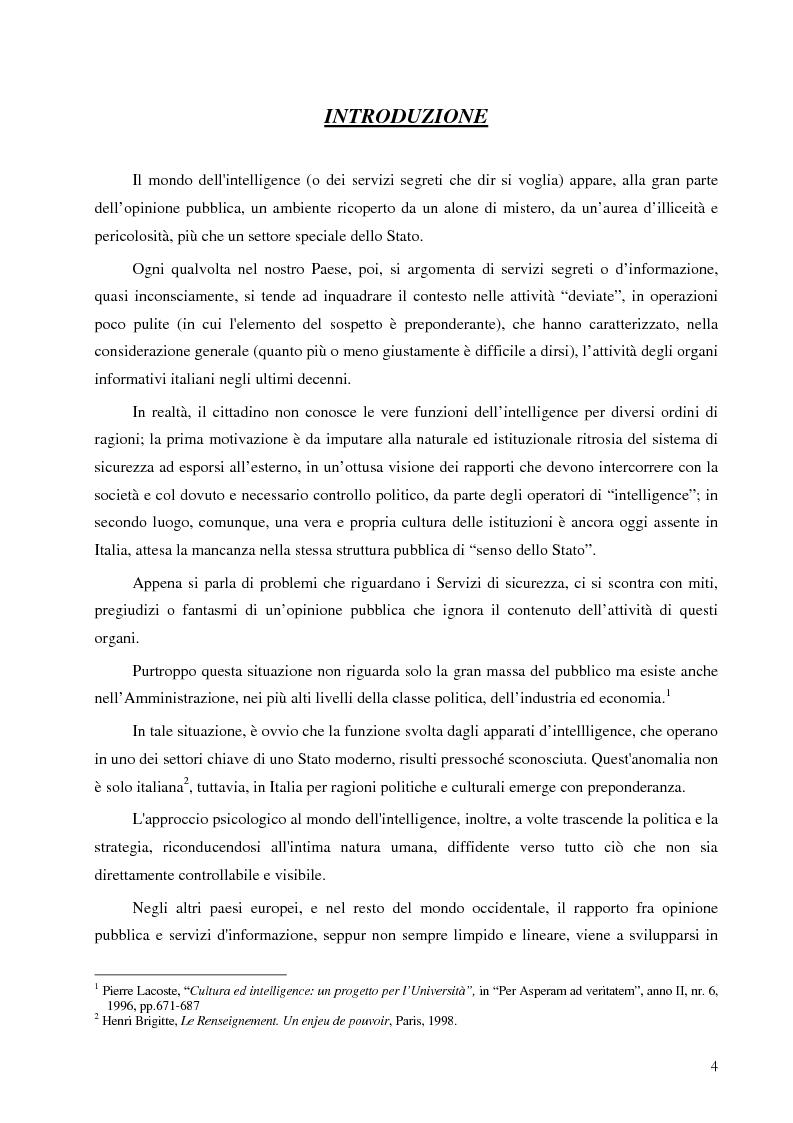 Anteprima della tesi: Intelligence in un mondo multipolare, Pagina 1