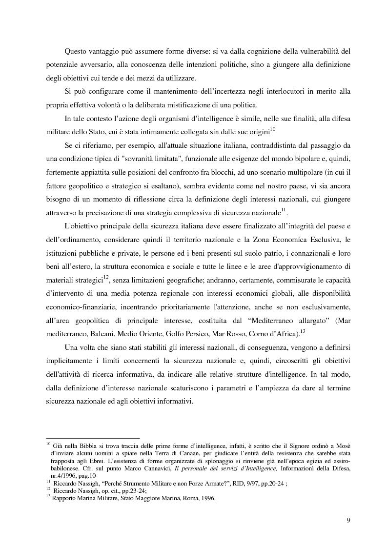 Anteprima della tesi: Intelligence in un mondo multipolare, Pagina 12