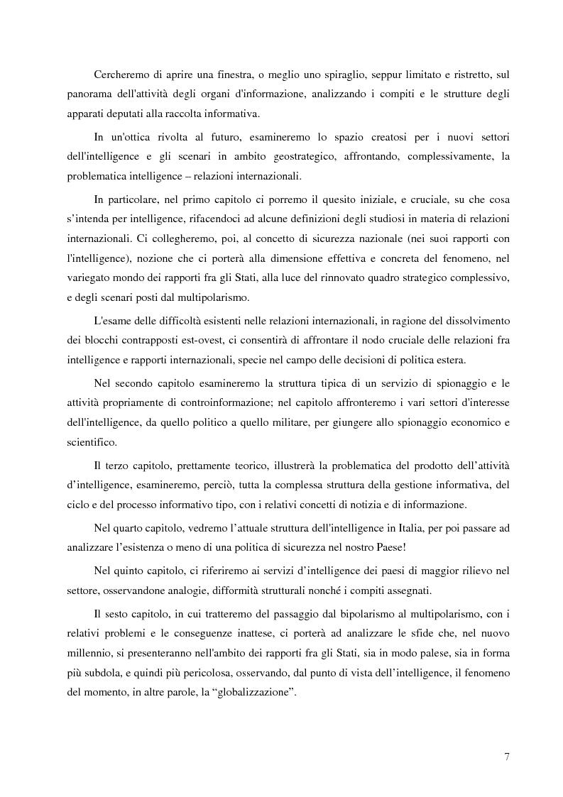 Anteprima della tesi: Intelligence in un mondo multipolare, Pagina 4