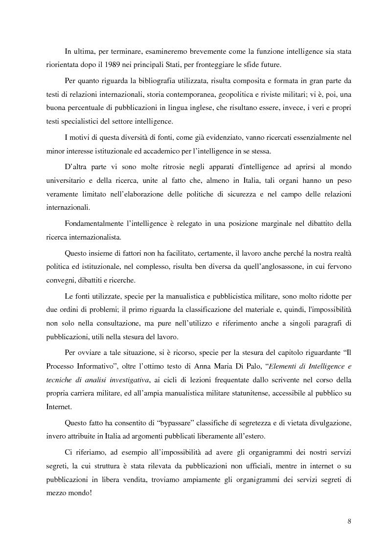 Anteprima della tesi: Intelligence in un mondo multipolare, Pagina 5