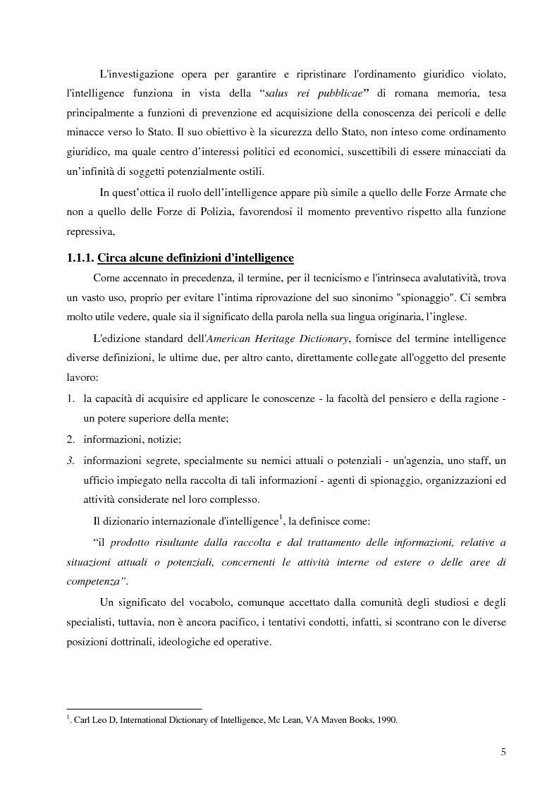 Anteprima della tesi: Intelligence in un mondo multipolare, Pagina 8