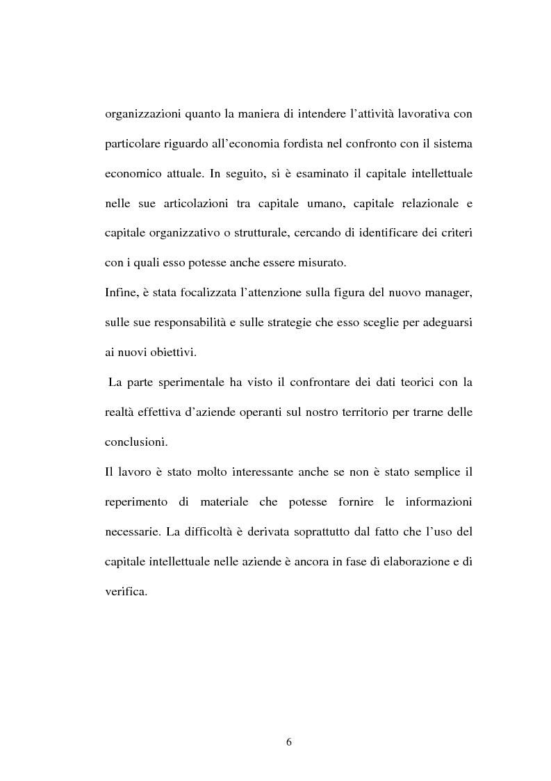 Anteprima della tesi: Una nuova frontiera delle organizzazioni: il capitale intellettuale, Pagina 6