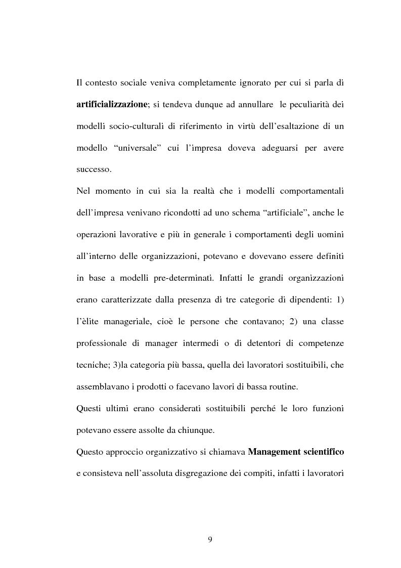 Anteprima della tesi: Una nuova frontiera delle organizzazioni: il capitale intellettuale, Pagina 9