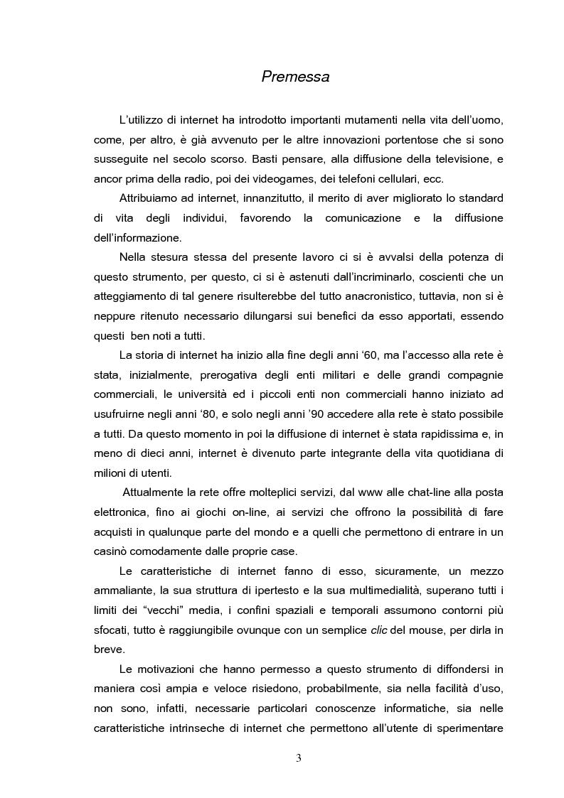 Anteprima della tesi: Fenomeni di internet dipendenza, Pagina 1