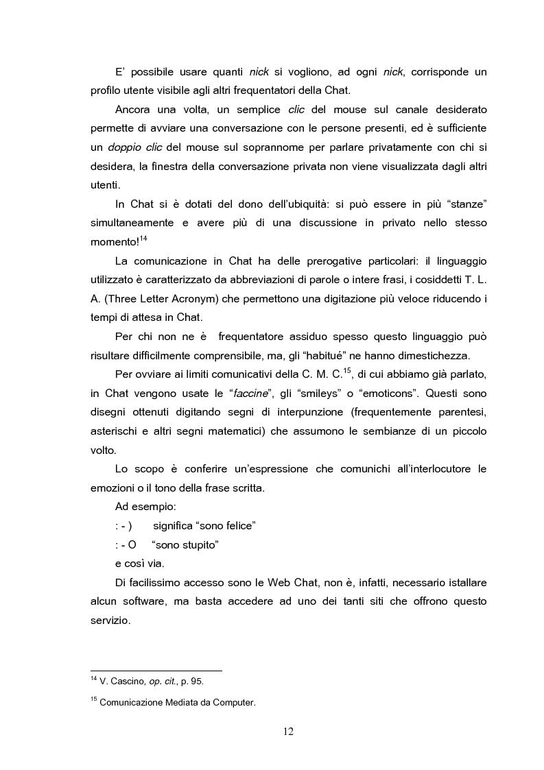Anteprima della tesi: Fenomeni di internet dipendenza, Pagina 10