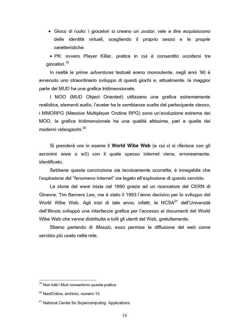 Anteprima della tesi: Fenomeni di internet dipendenza, Pagina 12