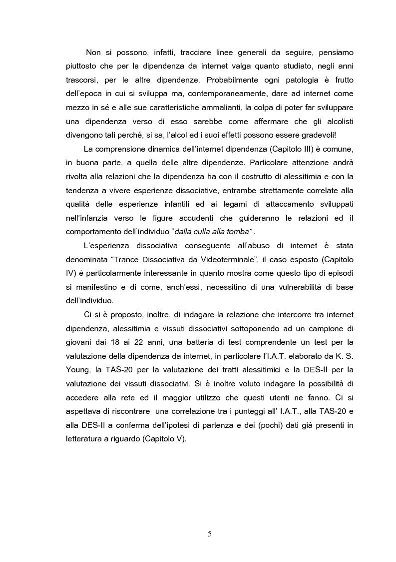 Anteprima della tesi: Fenomeni di internet dipendenza, Pagina 3