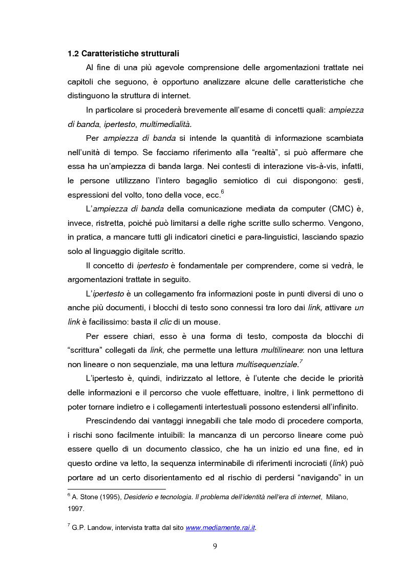 Anteprima della tesi: Fenomeni di internet dipendenza, Pagina 7