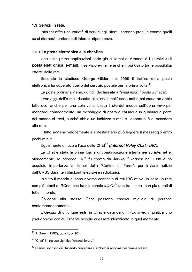 Anteprima della tesi: Fenomeni di internet dipendenza, Pagina 9