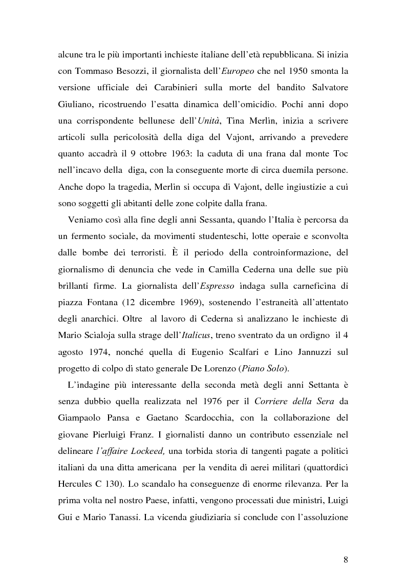 Anteprima della tesi: Il giornalismo investigativo italiano: il caso Alpi-Hrovatin, Pagina 2