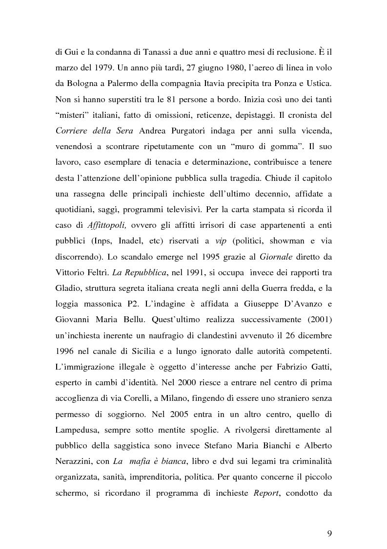 Anteprima della tesi: Il giornalismo investigativo italiano: il caso Alpi-Hrovatin, Pagina 3