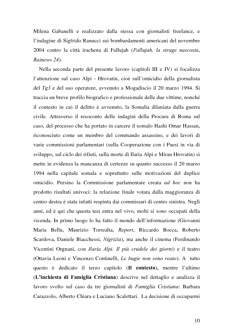 Anteprima della tesi: Il giornalismo investigativo italiano: il caso Alpi-Hrovatin, Pagina 4