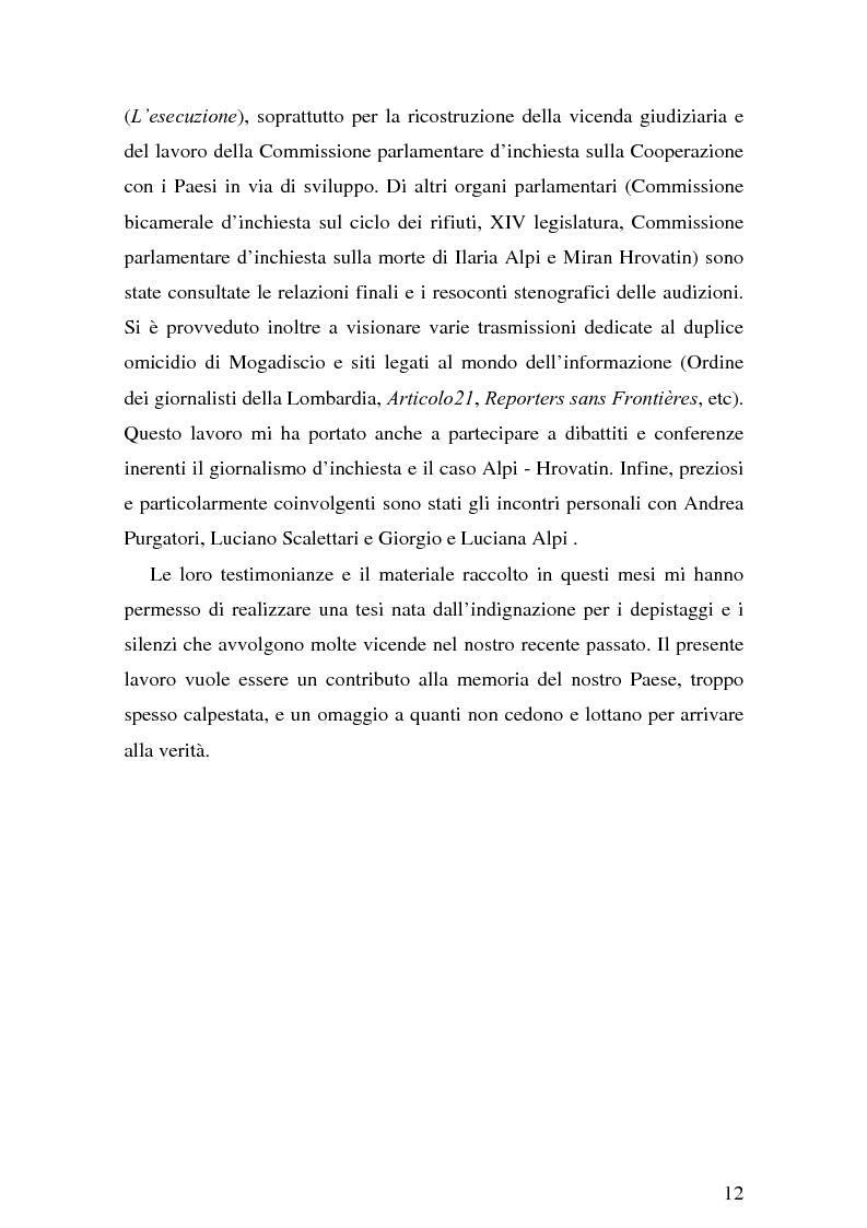 Anteprima della tesi: Il giornalismo investigativo italiano: il caso Alpi-Hrovatin, Pagina 6