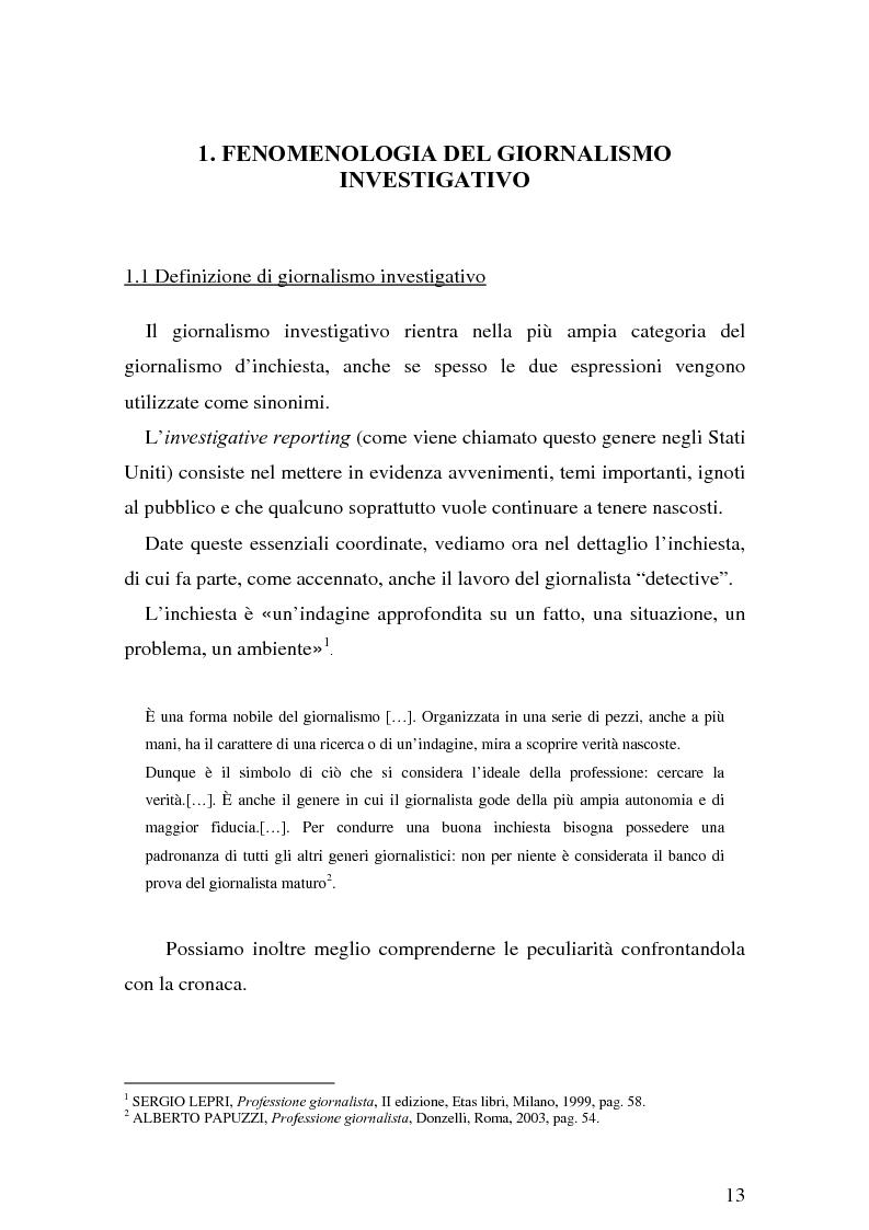 Anteprima della tesi: Il giornalismo investigativo italiano: il caso Alpi-Hrovatin, Pagina 7
