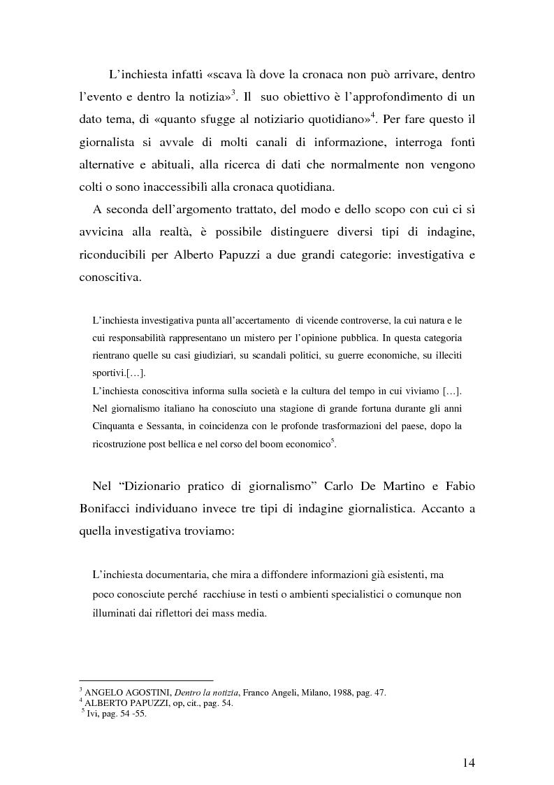 Anteprima della tesi: Il giornalismo investigativo italiano: il caso Alpi-Hrovatin, Pagina 8