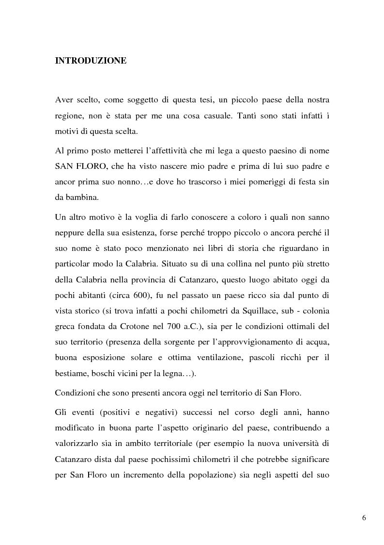Anteprima della tesi: San Floro, storia di un antico borgo calabrese, Pagina 1