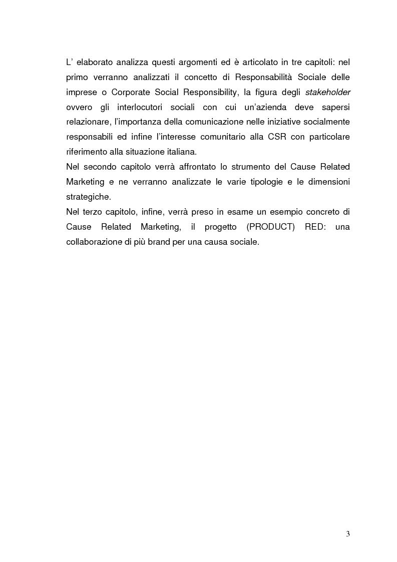 Anteprima della tesi: Product red: grandi brand insieme per un progetto sociale, Pagina 2