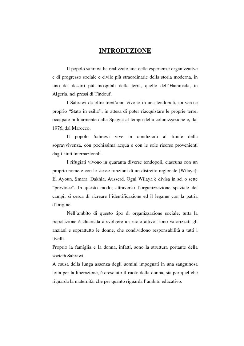 Anteprima della tesi: Il Sahara Occidentale: case study, Pagina 1