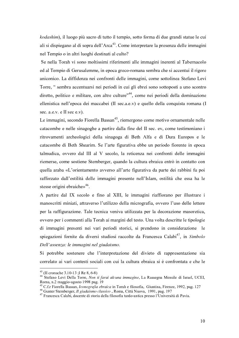 Anteprima della tesi: Il divieto di rappresentazione nell'ebraismo, Pagina 10
