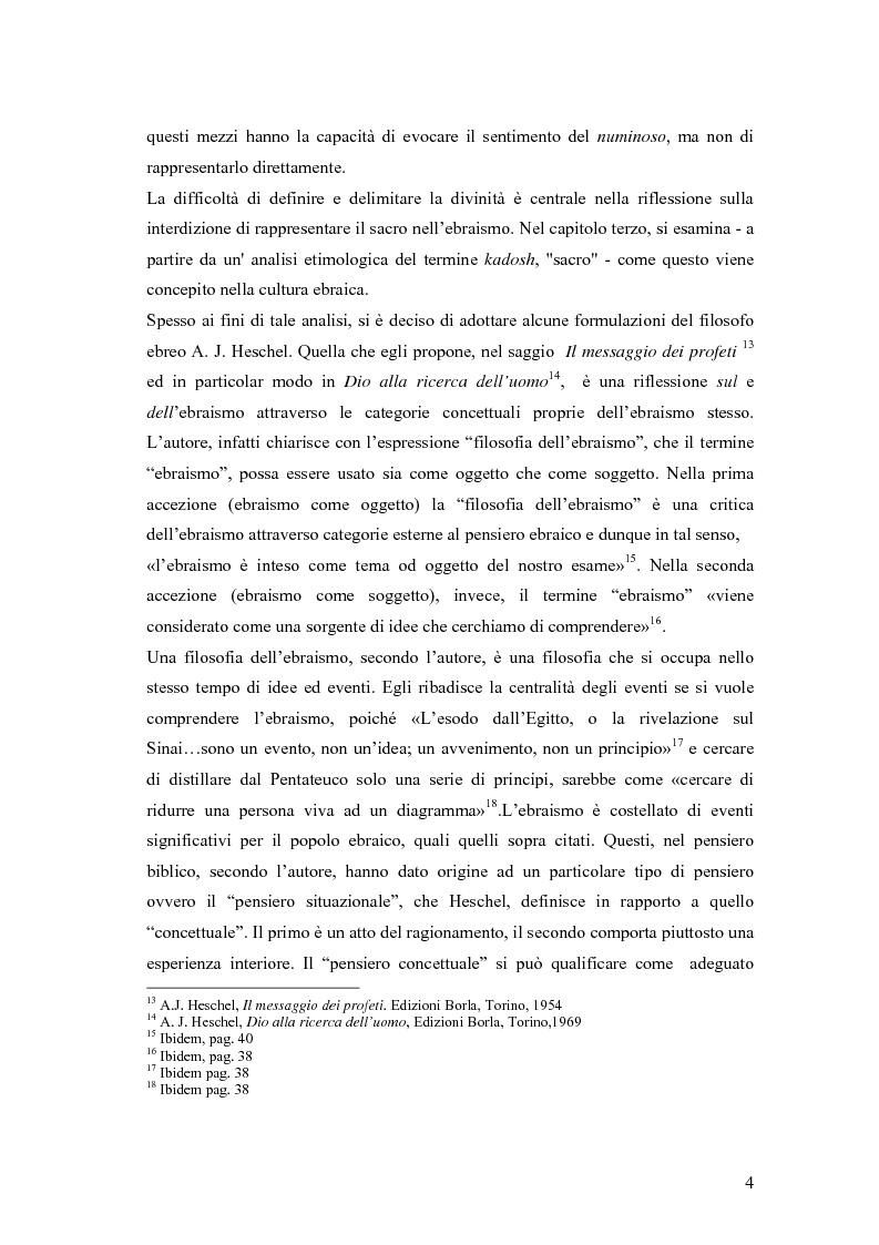 Anteprima della tesi: Il divieto di rappresentazione nell'ebraismo, Pagina 4