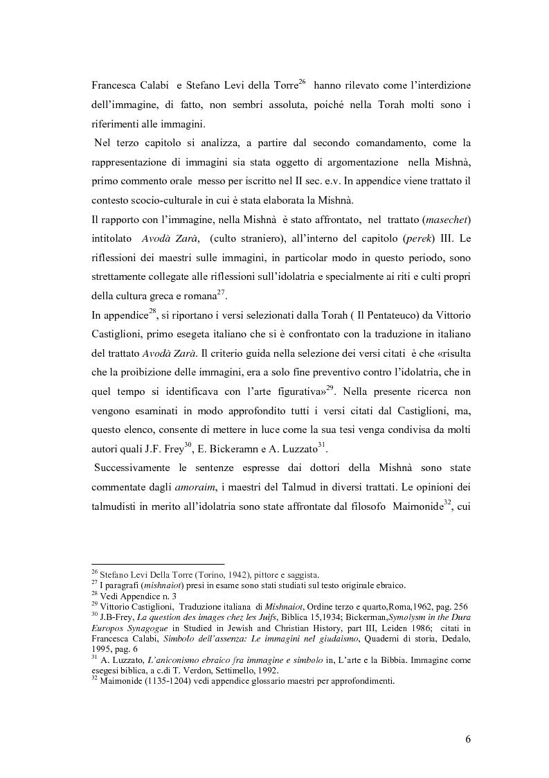 Anteprima della tesi: Il divieto di rappresentazione nell'ebraismo, Pagina 6