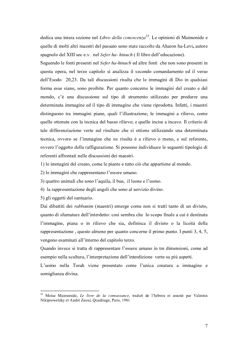 Anteprima della tesi: Il divieto di rappresentazione nell'ebraismo, Pagina 7